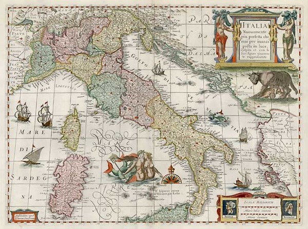 76-Europe and Italy Map By Jan Jansson