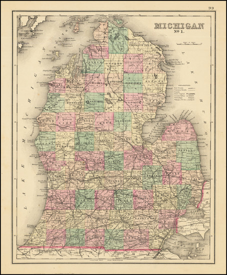 16-Michigan Map By R. Gray