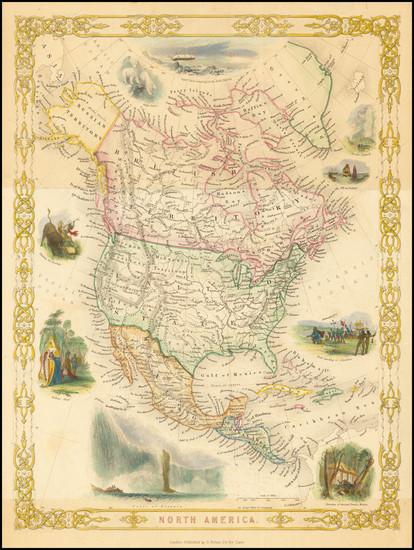 25-North America Map By John Tallis