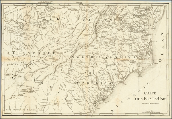 54-Kentucky, Tennessee, Virginia, Georgia, North Carolina and South Carolina Map By Francois A.F.