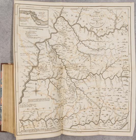 7-United States, Kentucky and Atlases Map By Jedidiah Morse / John Stockdale / John Filson