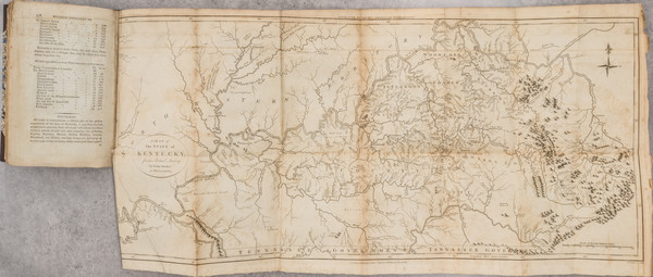41-Kentucky, Tennessee and Rare Books Map By Gilbert Imlay