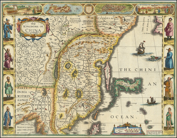 16-China, Japan, Korea and India Map By John Speed
