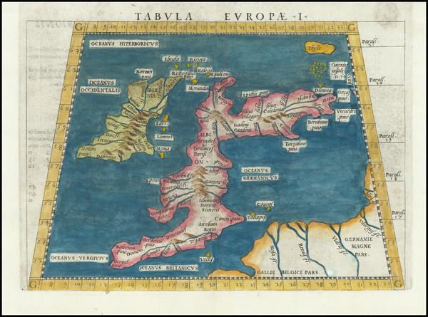 69-British Isles Map By Girolamo Ruscelli