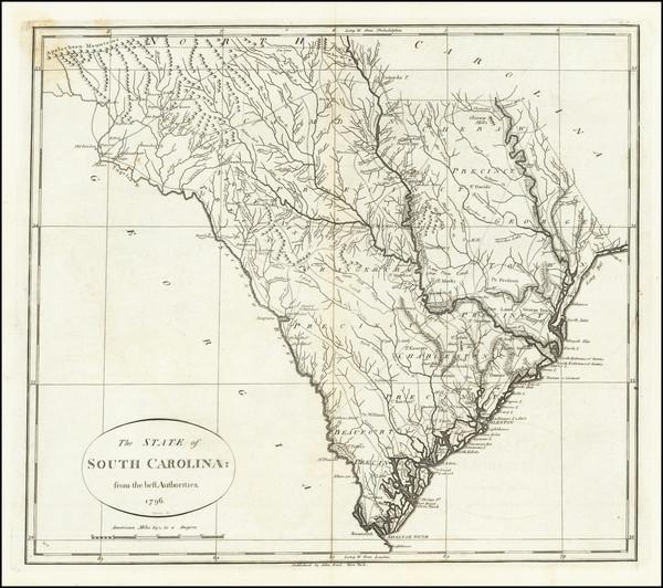 63-South Carolina Map By John Reid