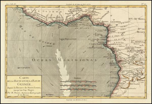 80-West Africa Map By Rigobert Bonne