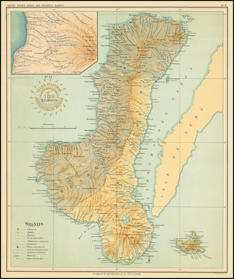 44-Philippines Map By Hoen & Co.