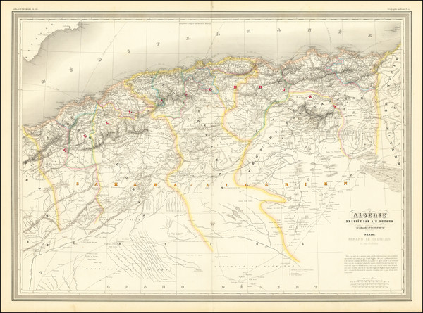 32-North Africa Map By Adolphe Hippolyte Dufour