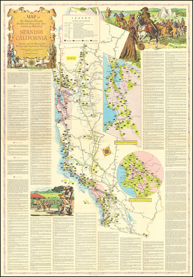 70-Pictorial Maps and California Map By Lowell Butler
