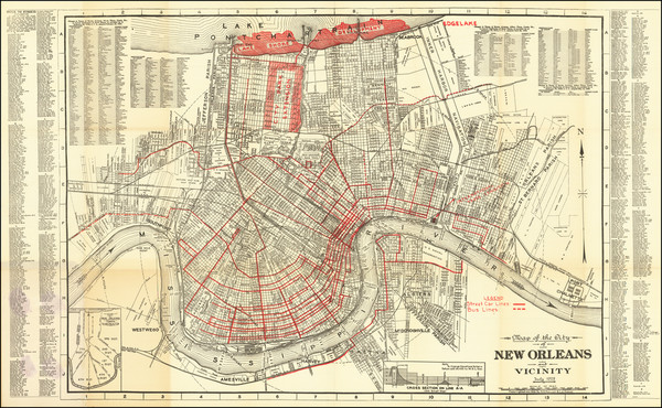 34-New Orleans Map By A.H. Guillot  &  L. J. Adam