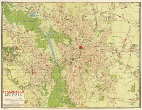 40-German Cities Map By Cornelius Love