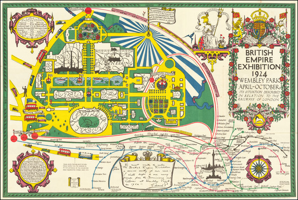 56-British Isles, London and Pictorial Maps Map By Kennedy North