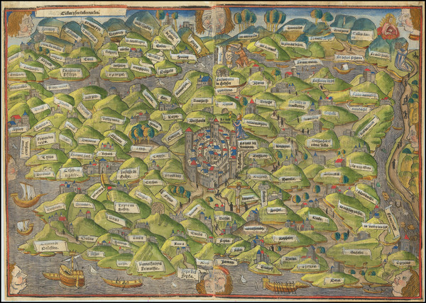 67-Middle East and Holy Land Map By Anonymous