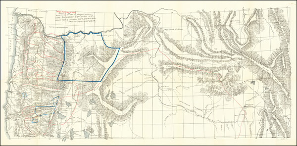 84-Idaho, Montana, Wyoming and Oregon Map By Anonymous