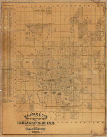 41-Indiana Map By R.L. Polk / William B. Burford