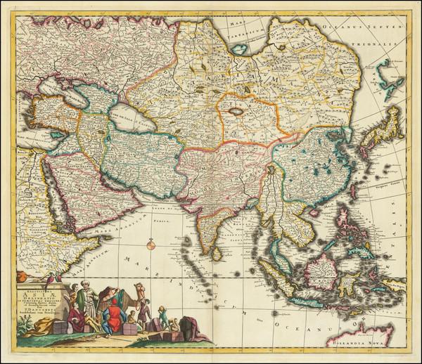 87-Asia Map By Theodorus I Danckerts