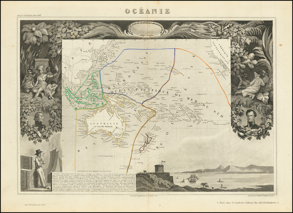 63-Oceania Map By Victor Levasseur