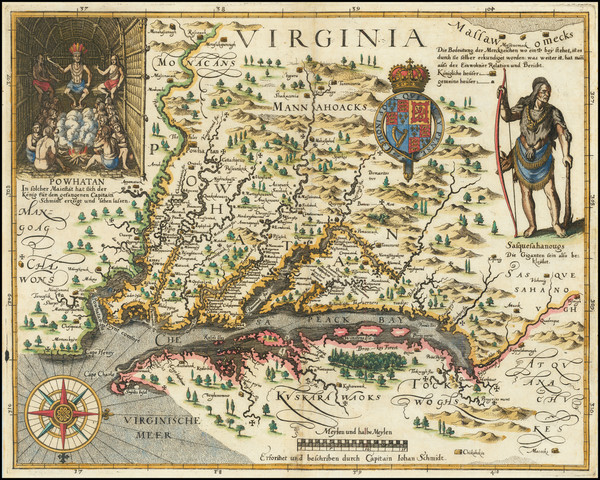 41-Maryland, Southeast and Virginia Map By John Smith