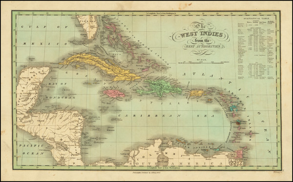 80-Caribbean Map By Anthony Finley