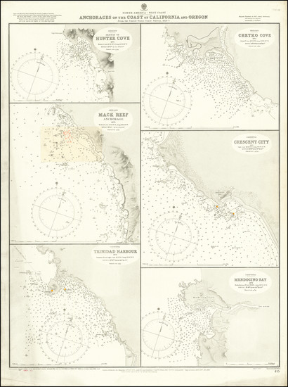 6-Oregon and Baja California Map By British Admiralty