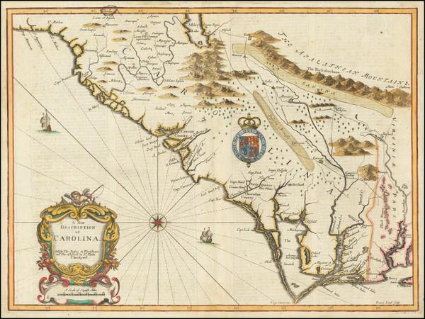 81-Southeast, North Carolina and South Carolina Map By John Speed