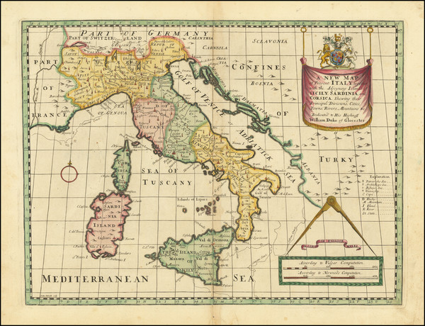 58-Italy Map By Edward Wells