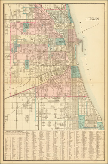 90-Illinois and Chicago Map By Samuel Augustus Mitchell Jr.
