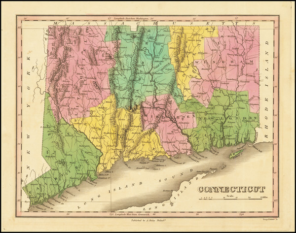 43-Connecticut Map By Anthony Finley