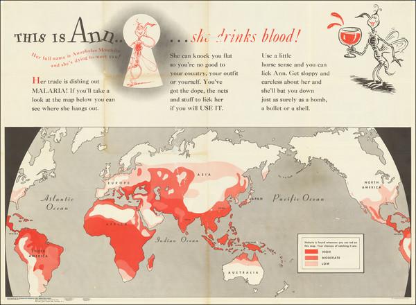 47-World, World War II, Curiosities and RBMS FAIR 2021 Map By Theodor Seuss Geisel / Newsmap
