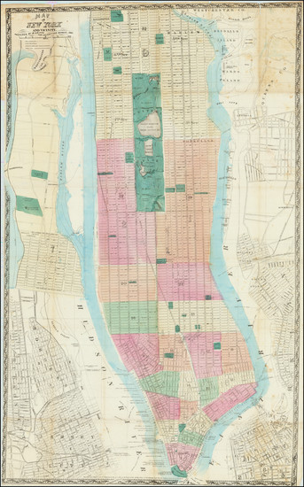 53-New York City Map By Matthew Dripps