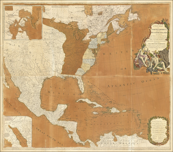 85-United States and North America Map By Robert Sayer  &  John Bennett
