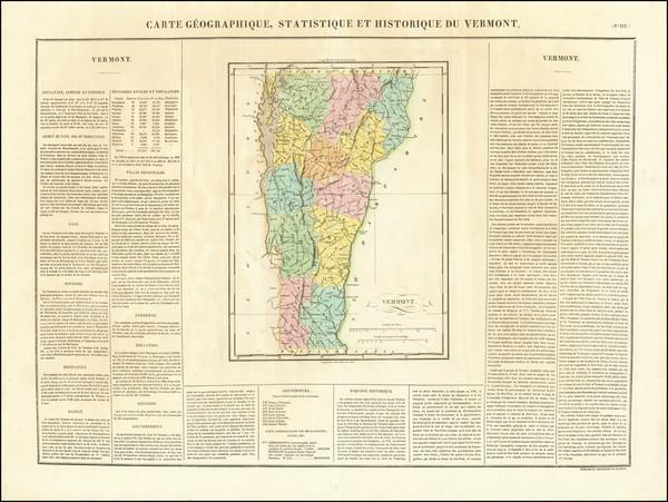 43-Vermont Map By Jean Alexandre Buchon