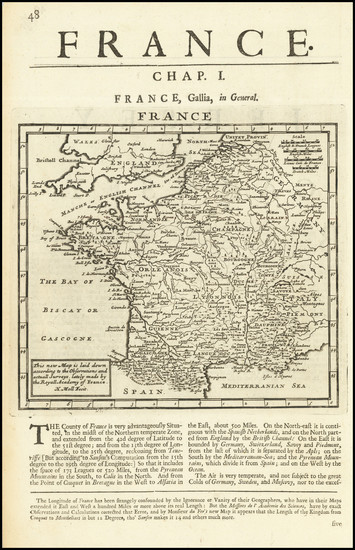 75-France Map By Herman Moll