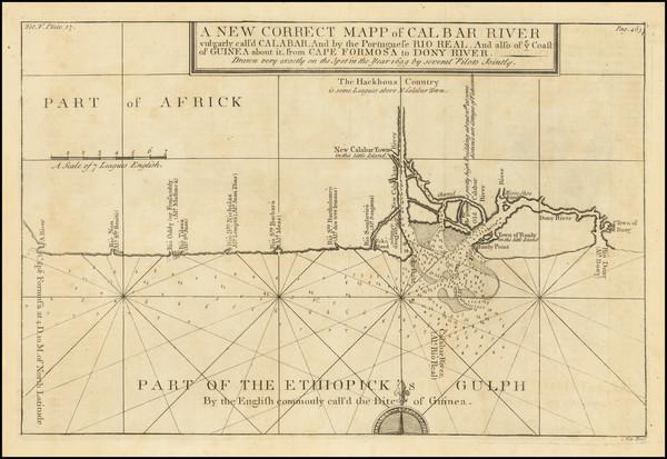90-West Africa Map By Johannes Kip