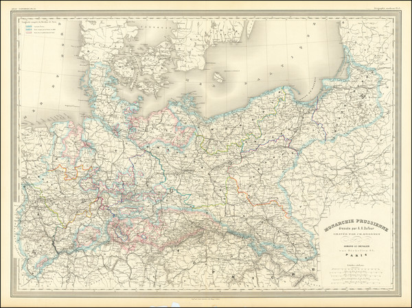 14-Germany, Poland and Baltic Countries Map By Adolphe Hippolyte Dufour