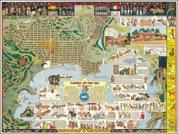 91-Pictorial Maps, California and Other California Cities Map By Jo Mora