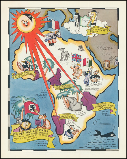 70-Europe, Africa and Pictorial Maps Map By Richard Q. Yardley  &  Peggy Yardley