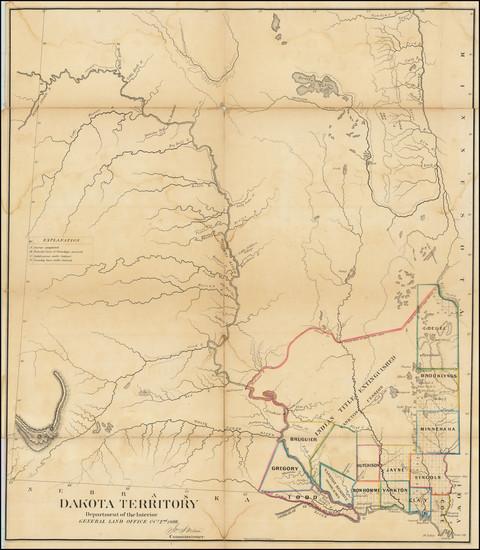 67-North Dakota and South Dakota Map By General Land Office