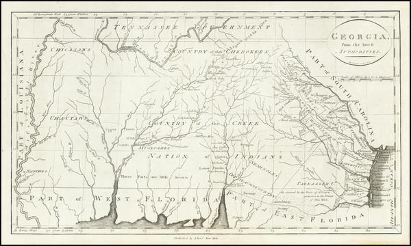 96-South, Alabama, Mississippi, Southeast and Georgia Map By John Reid