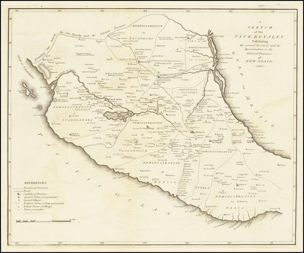 52-Mexico Map By Zebulon Montgomery Pike
