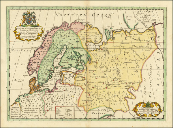 29-Russia and Scandinavia Map By Edward Wells
