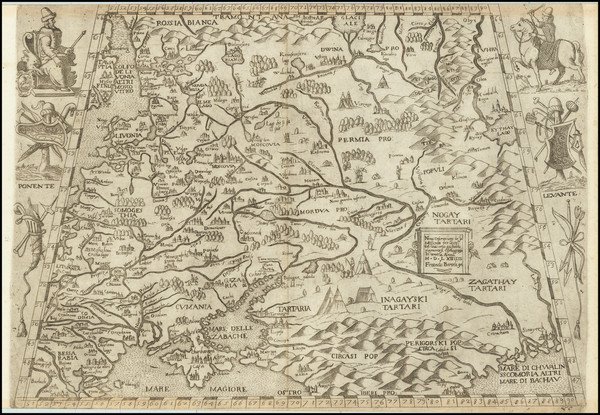 64-Russia and Ukraine Map By Ferrando Bertelli