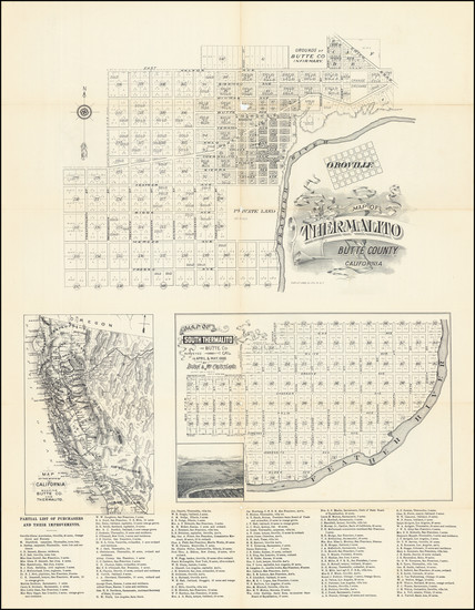 32-Other California Cities Map By Schmidt Label & Litho. Co. / Thermalito Colony Co.