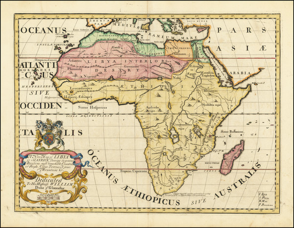 83-Africa Map By Edward Wells