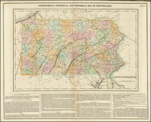 55-Pennsylvania Map By Henry Charles Carey  &  Isaac Lea