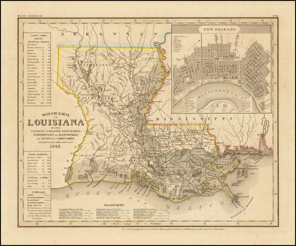 97-Louisiana Map By Joseph Meyer