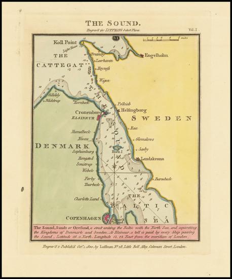 83-Sweden and Denmark Map By John Luffman