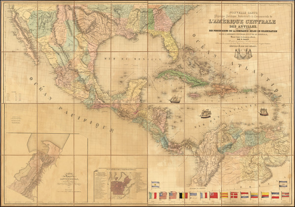 9-Texas, Mexico and Central America Map By N. Dally
