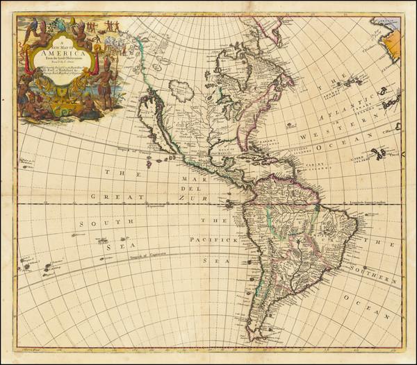 61-California as an Island and America Map By John Senex