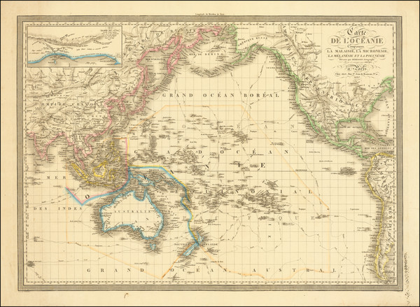 79-Pacific Ocean, Australia and Oceania Map By A.R. Fremin